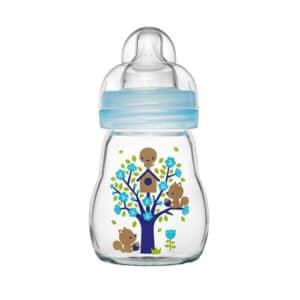 MAM בקבוק זכוכית בטוח ועמיד בפני שינוי טמפרטורה